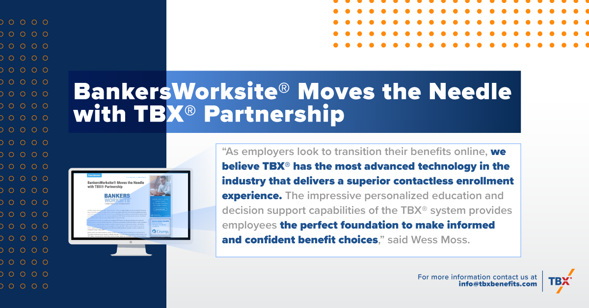 BankersWorksite® Moves the Needle with TBX® Partnership